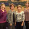 2015 Golf Donation Cancer Services, Amber Frey, Kathy Goffer, Linda Bewley, Crystal Michel